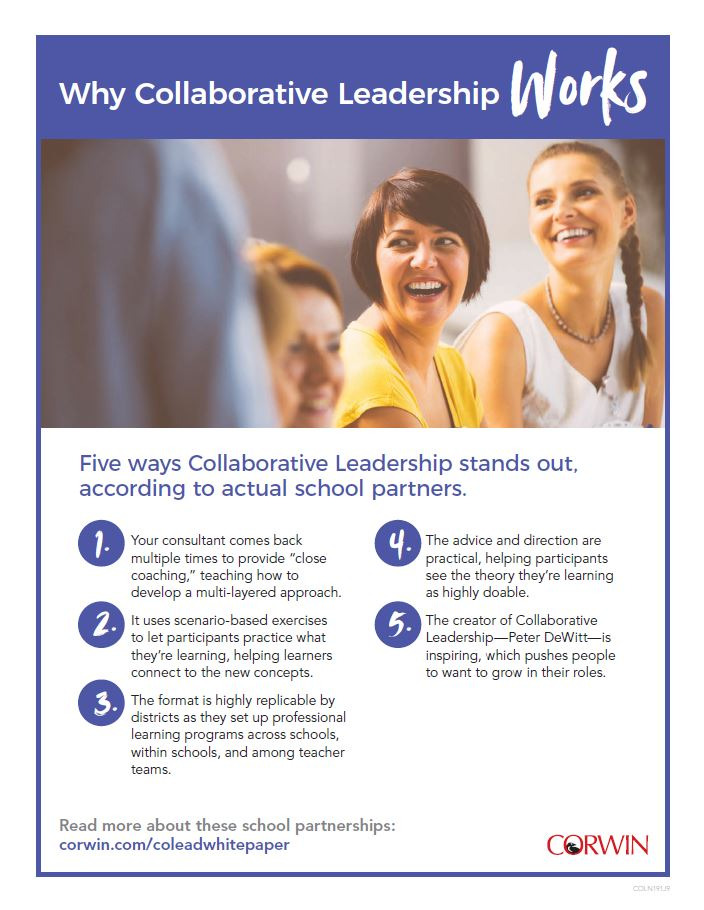 Collaborative Leadership, Peter DeWitt, Corwin, onsite PD, education, leadership
