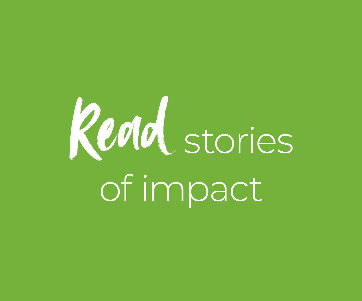 Stories of Impact